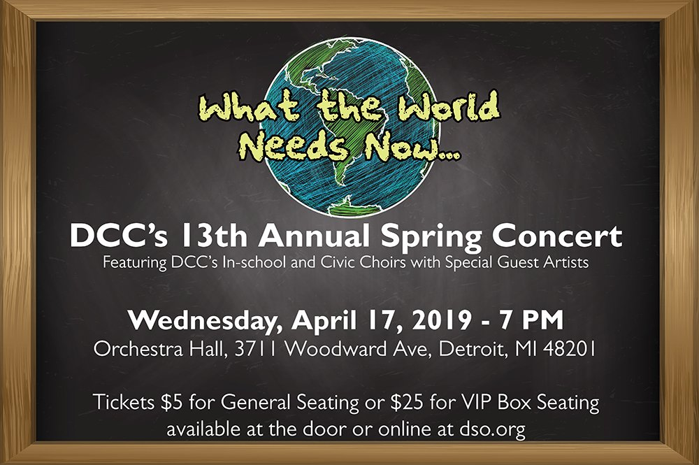 Dcc S 13th Annual Spring Concert Detroit Children S Choir
